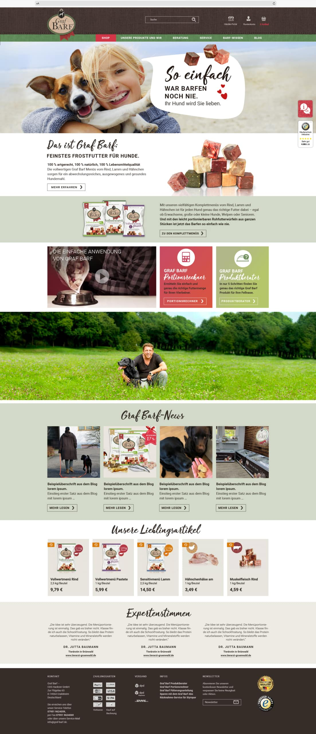 Graf Barf Website Vorschau