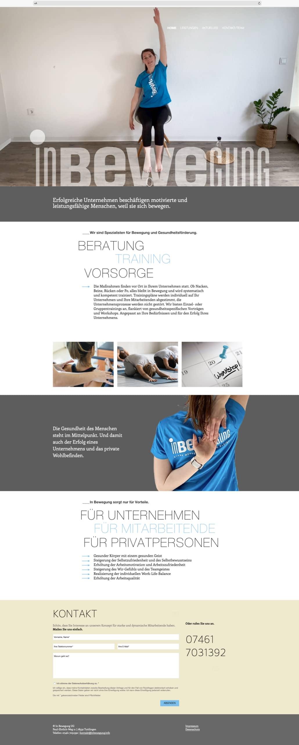 Mabacon Website Vorschau